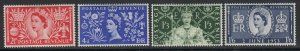 Great Britain, Sc 313-316 (SG 532-535), MLH