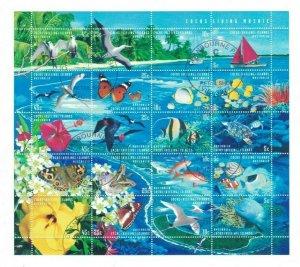 CK127) Cocos Keeling Islands 1999 Living Mosaic Sheetlet CTO/Used