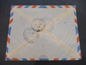 1962 Cameroon West Africa Illinois  USA Multi Franking Illustrated Airmail Cover