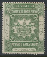 North Borneo  SG 84 SC# 71 MH Dull Green  please see scans & details