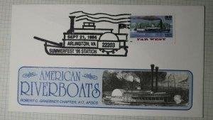 American Riverboats Robert C Graeber Chapter Sc# 3096 Summerfest 96 Station