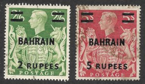 Doyle's_Stamps: Used BAHRAIN Scott #60 & #61 KGVI British Crown Issues