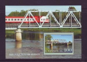 Latvia Sc 687 2007 Aiviaksti Railway Bridge stamp sheet  mint NH
