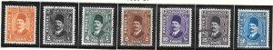 Egypt #191-197  (U) CV $3.15