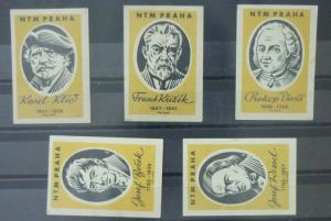 Match Box Labels ! industry science scientist famous people czechoslovakia GN26