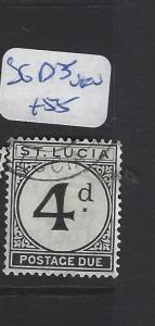 ST LUCIA   (PP2806B)  POSTAGE DUE 4D  SG D5   VFU