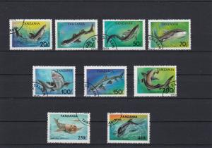 Tanzania Seals Dolphins + Sharks Stamps Ref 24900