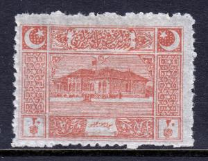 TURKEY IN ASIA — SCOTT 101 — 1922 1pi PARLIAMENT HOUSE — MH — SCV $12.00