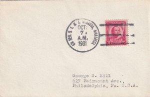 1931, USMC: 5th Reg. 2nd Brig., Managua, Nicaragua to Philadelphia, PA (N6814)