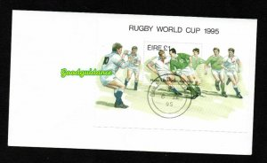 1995- Ireland- Eire - World Cup Rugby South Africa - FDC