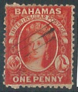 70308 - BAHAMAS - STAMP: Stanley Gibbons # 25x   -  Used