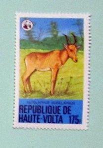 Burkina Faso - 510, MNH. Hartebeest; WWF. SCV - $6.00