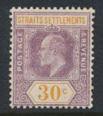 Straits Settlements Edward VII SG 162  Mint Hinged