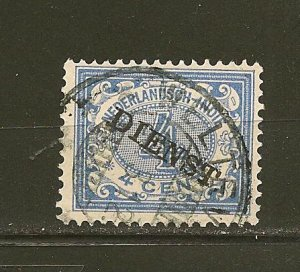 Netherlands Indies O7 Official Used