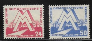 Germany DDR - Scott #78-79  - VF - Mint Never Hinged (NH)