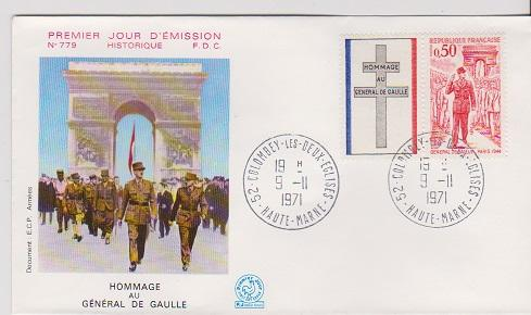 FRANCE STAMPS FDC -YEARS 1971- CH.DEGAULE # LOT#A-11