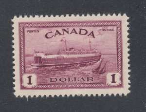 Canada $1.00 stamp #273-$1.00 Halifax Train Ferry MLH VF Guide Value = $45.00