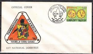 Philippines, Scott cat. 1341. National Scout Jamboree issue. First day cover.