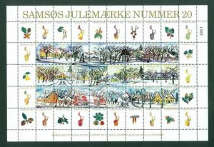 Denmark. Christmas Sheet Local Samso  # 20. 1998. Minister's House. Tree,Seeds.