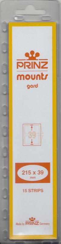 PRINZ 215X39 (15) CLEAR MOUNTS RETAIL PRICE $7.99
