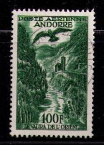 ANDORRA FRENCH Sc# C2 USED FVF East Branch of Valira River