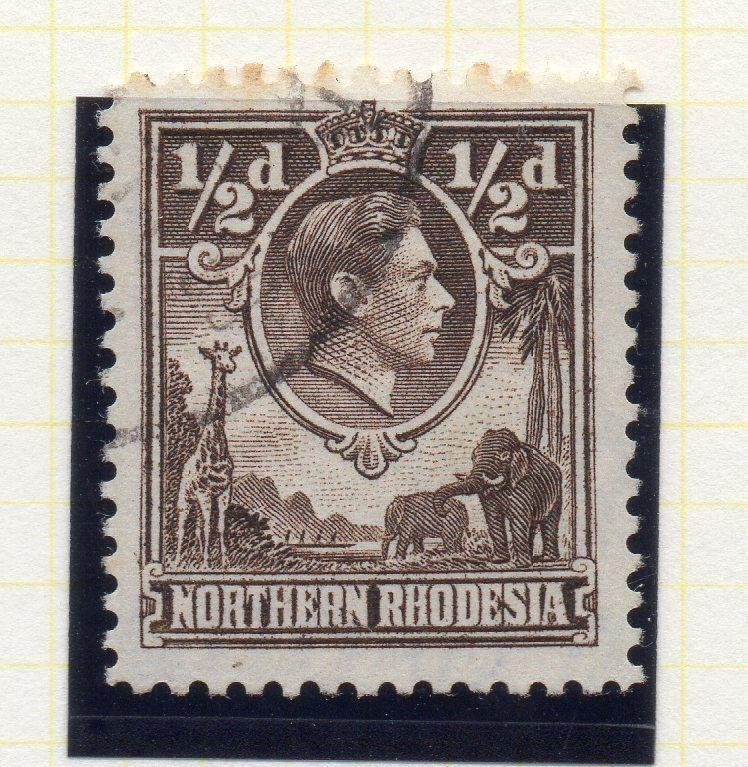 Northern Rhodesia 1950 Early GVI Issue Fine Used 1/2d. 107757