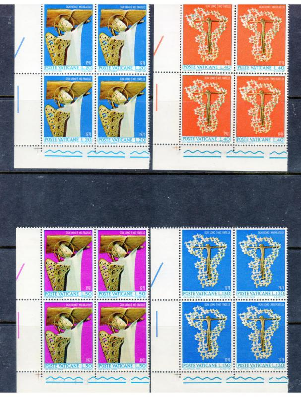 VATICAN 500-3  Blocks MNH VF Anti Racial Discrimination