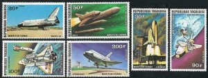 Togo 965-967,C326-C328,MNH.Michel 1249-125. US space shuttle Orbiter,1977.
