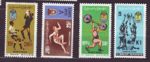 J23705 JLstamps 1969 burma mh set #212-5 sports