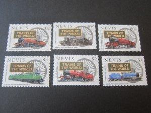 Nevis 1997 Sc 1031-6 Train set MNH
