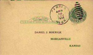 United States, Government Postal Card, Nebraska