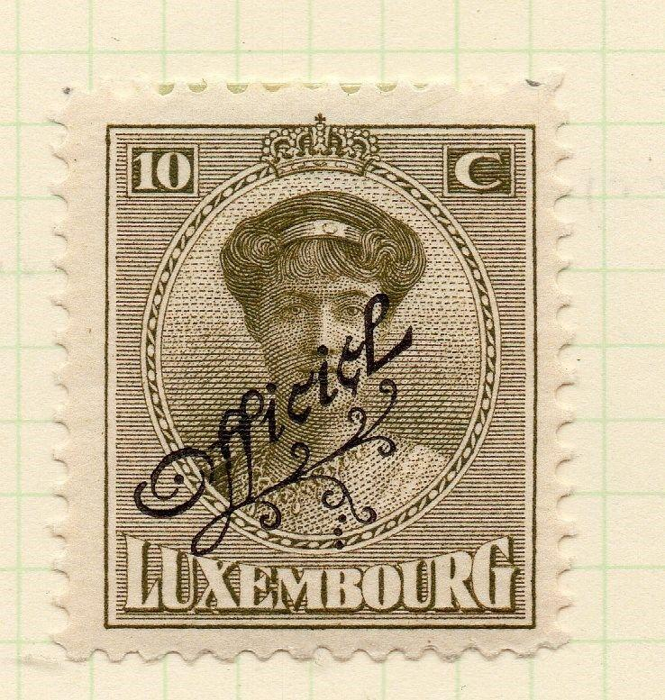 Luxembourg 1921-22 Early Issue Fine Mint Hinged 10c. Official Optd 253196