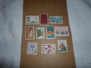 MONACO STAMPS LOT. 10 STAMPS # 2