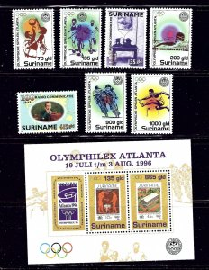 Surinam 1047-52A MNH 1996 Olympics    (ap1435)