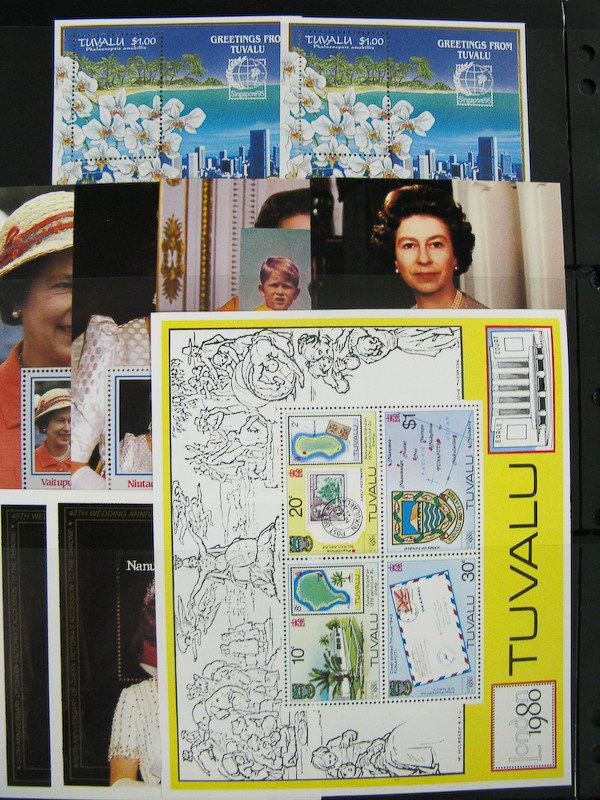 Tuvalu Mint NH Souvenir Sheets And Strips