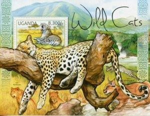 Uganda MNH S/S Leopard Wild Cat 2012