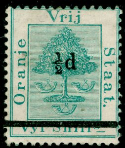 SOUTH AFRICA - Orange Free State SG36, ½d on 5s green, M MINT. Cat £25.