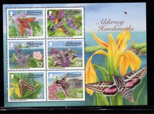 Alderney Sc 402a 2011 Hawkmoths stamp sheet mint NH
