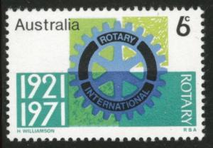 AUSTRALIA Scott 498 MNH** 1971 Rotary International stamp