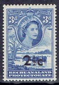Bechuanaland Protectorate, Scott #172; 2 1/2c on 3p Queen Elizabeth II, MLH
