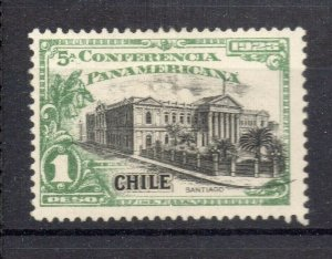 Chile 1923 Pan America Issue Mint hinged Shade of 1P. NW-13104