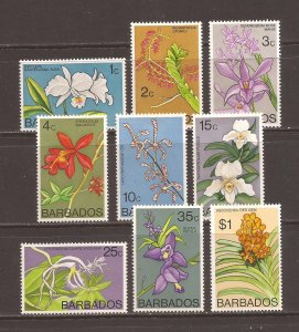 Barbados scott #396a//406a m/h stock #39097
