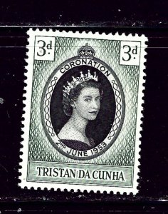 Tristan da Cunha 13 MH 1953 QEII Coronation