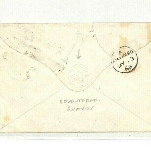 GB MILITARY *Coldstream Guards* Embossed Env Charing Cross Malvern 1868 NN264