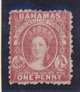 Bahamas Stamp Scott #11, Unused, No Gum, 1863-75 1p QV