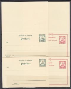Caroline Islands Mi P7-P10 mint 1901 Postal & Postal Reply Double Cards, cplt