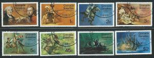 Grenada-Grenadines Scott 91-98  NHCTO  Complete