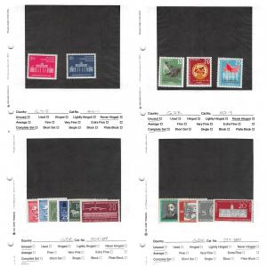 Lot of 87 Germany DDR MNH & MH Stamps Scott Range # 397 - 499 #141351 X R