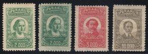 Brazil 1929-30 Air Post Set + Shade. LM Mint. Scott C22-24