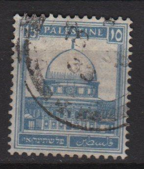 Palestine 1927 - Scott 76 used - 15m, Mosque of Omar